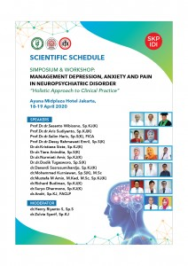 "Symposium and Workshop: Management Depression, Anxiety and Pain in Neuropsychiatric  Disorder ""Holistic Approach to Clinical Practice"" @ Ayana Mid Plaza Hotel"